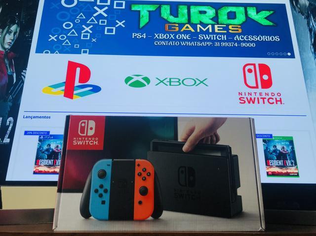 Nintendo Switch Neon Novo - Loja física - Cartões 12x