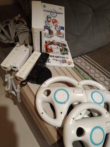 Nintendo Wii com Mario Kart