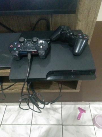 PS3 dois controles pes  atualizado