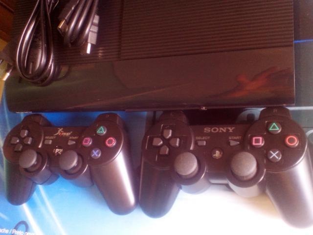 Playstation 3 Ps3 super slim 250gb e 5 jogos