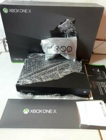 Xbox one X na caixa com nota fiscal/Garantia