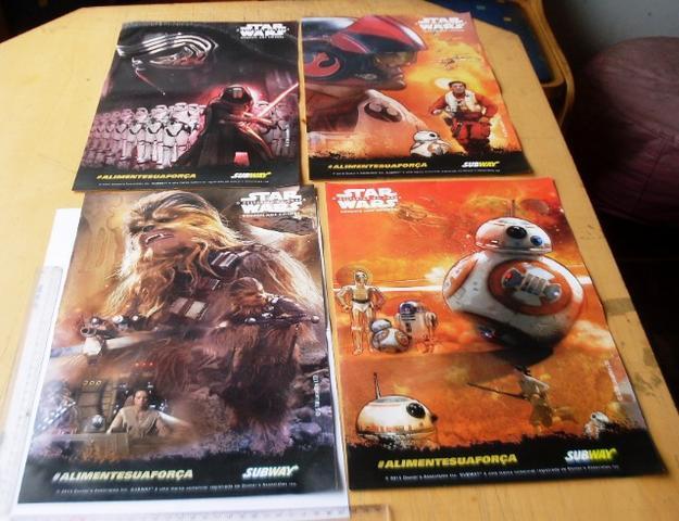 Colecionáveis - 4 Pôsteres Colecionáveis - Star Wars O