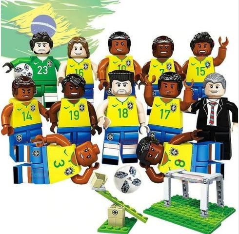 Coleção de miniaturas lego - Seleção brasileira