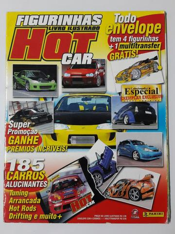 Álbum De Figurinhas Hot Car  Panini