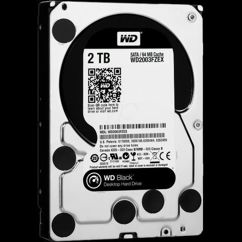 Hd Interno 2tb Western Digital Cache 64mb Black fzex