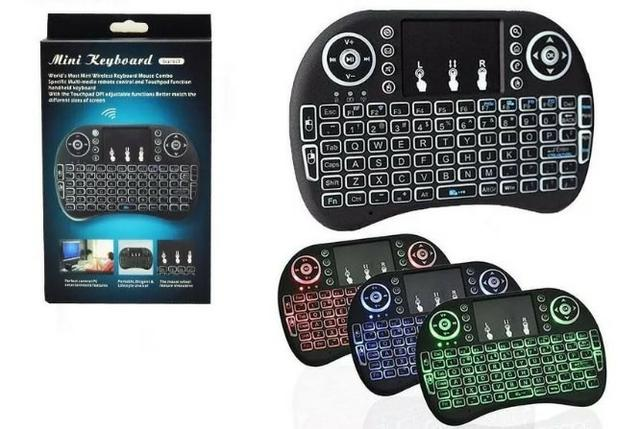 Mini Teclado Sem Fio com LED p/ Tvbox, Smart Tv, Pc