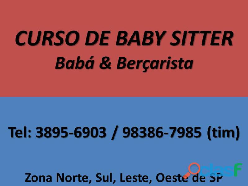 CURSO DE BABÁ E BERÇARISTA ZONA NORTE SANTANA TUCURUVI
