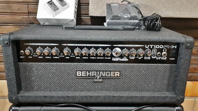 Cabeçote Behringer Vt100fxh amplificador de Guitarra