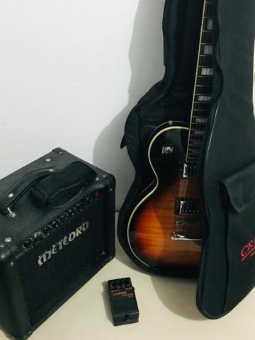 Kit Guitarra - Guitarra Les Paul, Amplificador E Pedal