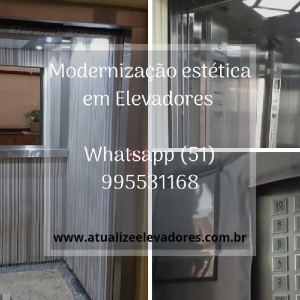 Revestimento de Fórmica em Elevador,Porto Alegre, Canoas
