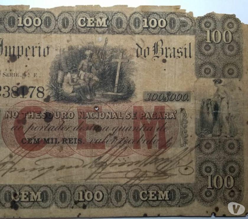 Brasil Imp. - Rara cédula de 100 Mil Réis (Uniface) R 059