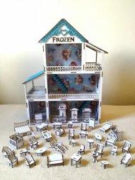 Casinha de boneca Frozen - 38 móveis