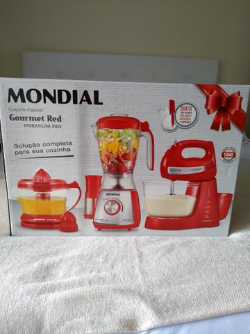 Gourmet Red Premium Inox Conjunto Kit Cozinha 110V