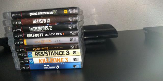 Playstation 3 Super Slim Perfeito estado + 9 jogos