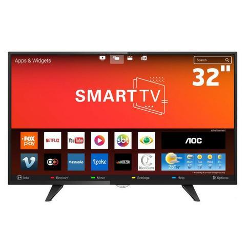 Smart tv aoc 32 polegadas por apenas  a vista entrega