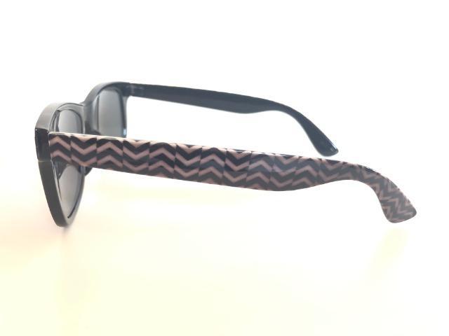 Óculos De Sol Preto. Unissex. Armação Em Acetato com