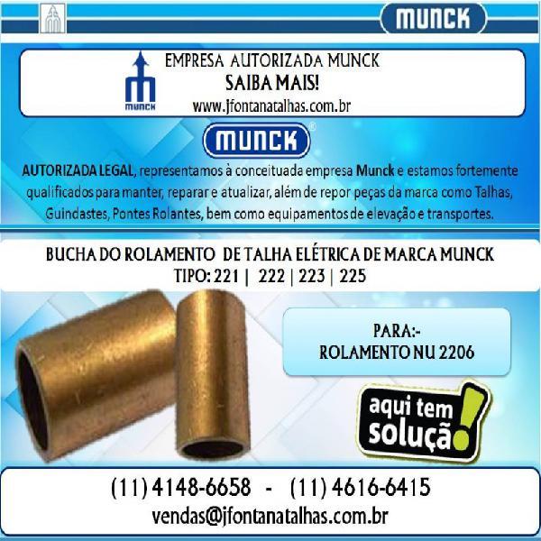 Bucha Normal e Bucha Alongada para Talhas Munck 1146166415 J