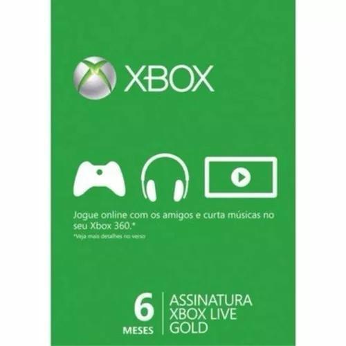 Cartao Xbox Live 6 Meses De Assinatura Gold Card - Microsoft