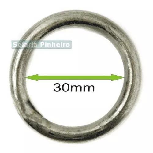 Argola Roliça Inox 30mm Envio Imediato Resistente Barata