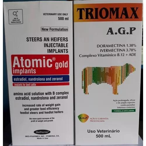 Combo 1 Atomic Gold + 1 Triomax A.g.p (engorda + Vermífugo)