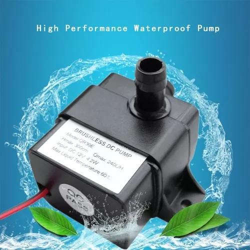 Mini Bomba De Água Submersível Prova D'água 12vdc 4w