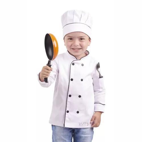 Doma Chef De Cozinha Infantil + Chapéu Branco De Criança