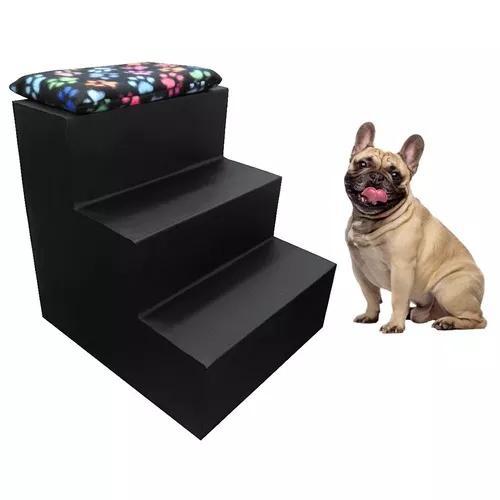 Escada Pet Para Cães E Gatos 3 Degraus - Courino