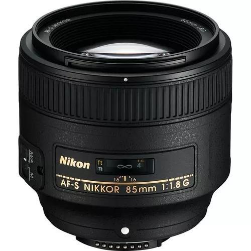 Lente Nikon 85mm F/1.8g Af-s Autofoco Parasol Garantia 1 Ano