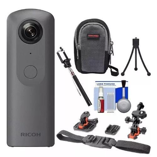 Ricoh Tetha V Camera Digital 360 Graus 4k Com Kit