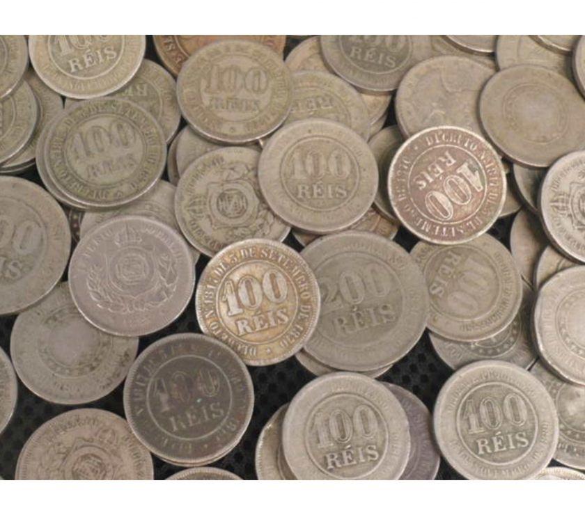 710 MOEDAS DE 100 E 200 RÉIS DE  A  R$ TODAS