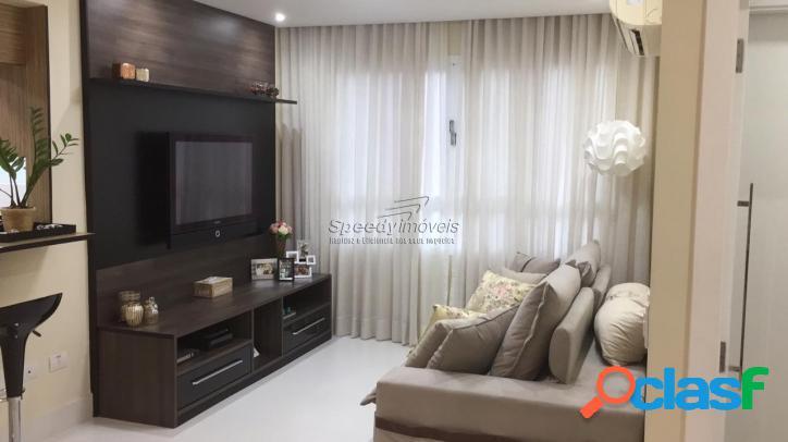 Apartamento em Santos 2 dormitórios, Boqueirão.
