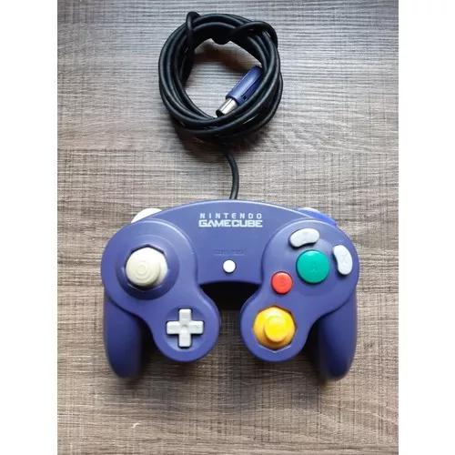 Controle Azul Nintendo Game Cube Original C699