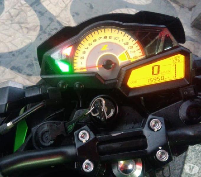 Kawasaki Z300 verde 2016 15.000km revisada R$16.500