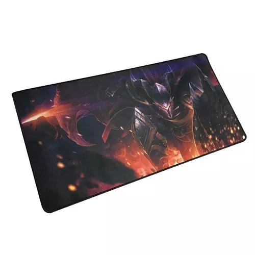 Mouse Pad Gamer Guerreiro Chama - Extra Grande 70x35 Cm 3mm.