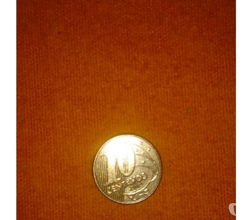 Moeda de 10 Centavos do ano de  com Rev.Horiz.a Esquerda