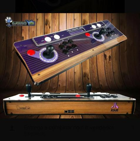 Arcade Fliperama Portátil Console Game Video Direto da