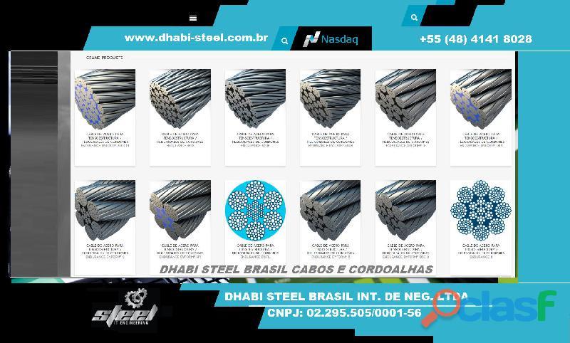 Dhabi Steel Cordoalhas de Aço Galvanizado, Zincado polido