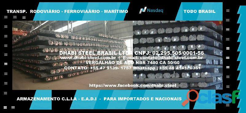 Dhabi Steel Vergalhão de Aço em Barras Retas Trabalhe com