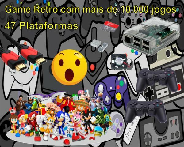 Game Retrô Portatil 47 Plataformas 10 Mil Jogos 2 Controles