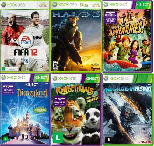 Jogos para Xbox 360, Originais em perfeito funcionamento,