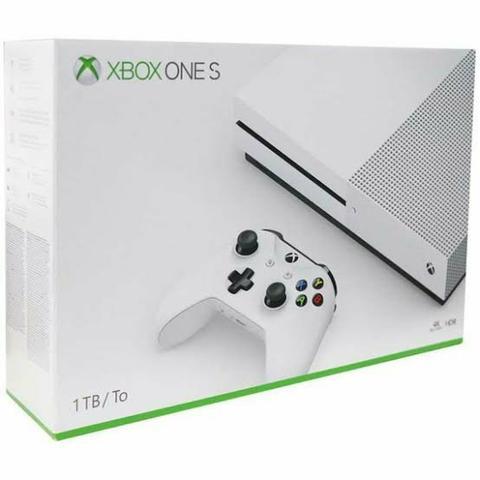 Xbox one s 4k 1tb hd, novo na caixa lacrada. torro