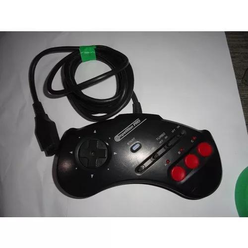 Controle Mega Drive Competition Pro Turbo 3 Botões Raro