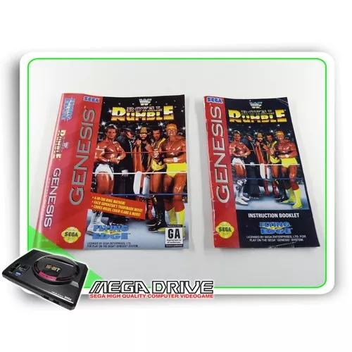 Encarte E Manual Wwf Royal Rumble Original Sega Mega Drive