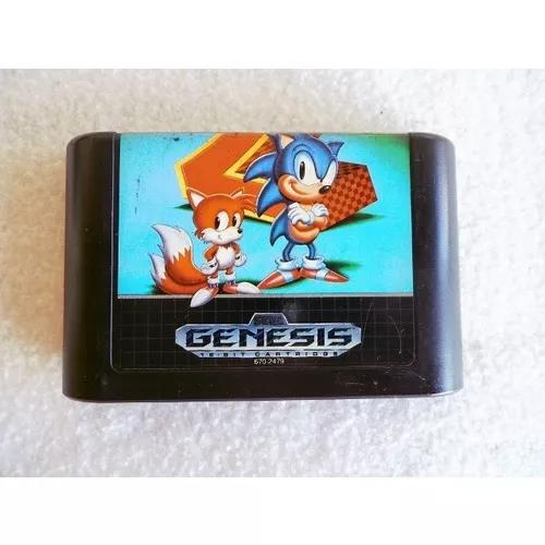 Fita Sega Genesis Mega Drive Sonic The Hedgehog 2 Original