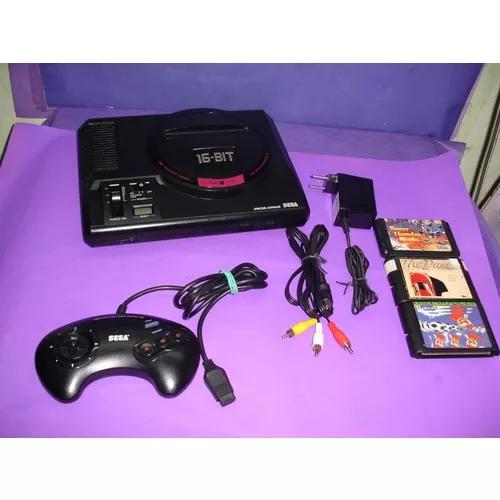 Mega Drive Japones C/1 Controle Original, Cabo Av E 3 Fitas