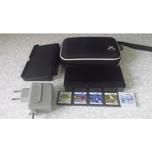 Nintendo 3ds C/ Case, 5 Jogos Originais E Carregador