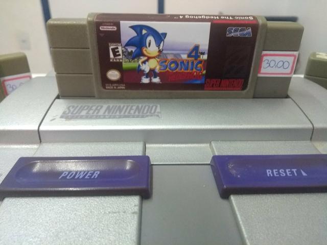 Super Nintendo + 1 Controle e 3 Jogos