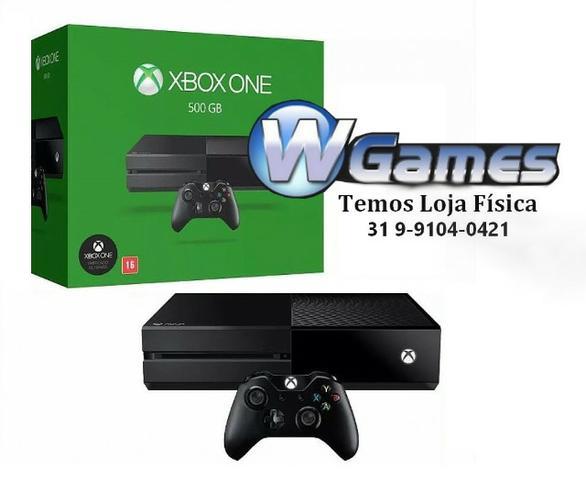 Xbox One 500Gb na caixa, 1 Controle e cabos. Garantia.