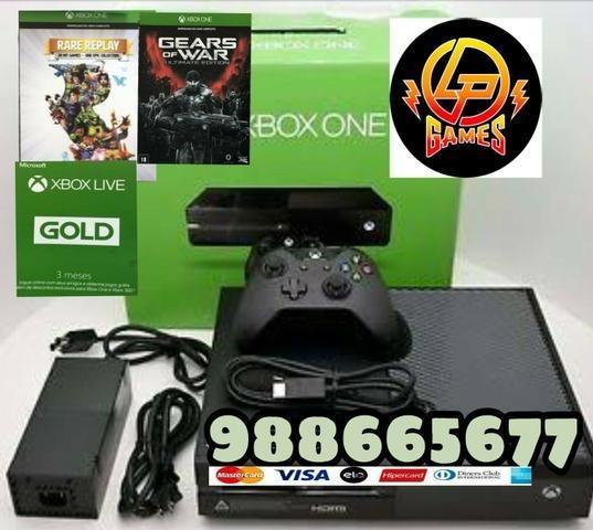 Xbox one 500gb seminovo + jogo bolsa e garantia