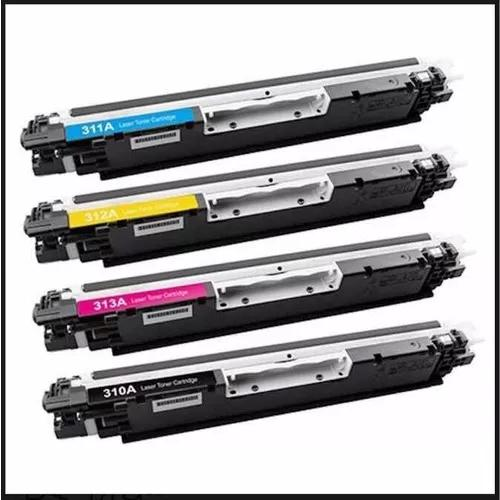Kit 4 Toner Ce 310a Ce 311 Ce 312 Ce 313 Para Cp 1025 Color
